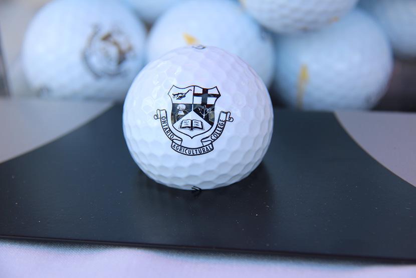 golf ball with oac logo